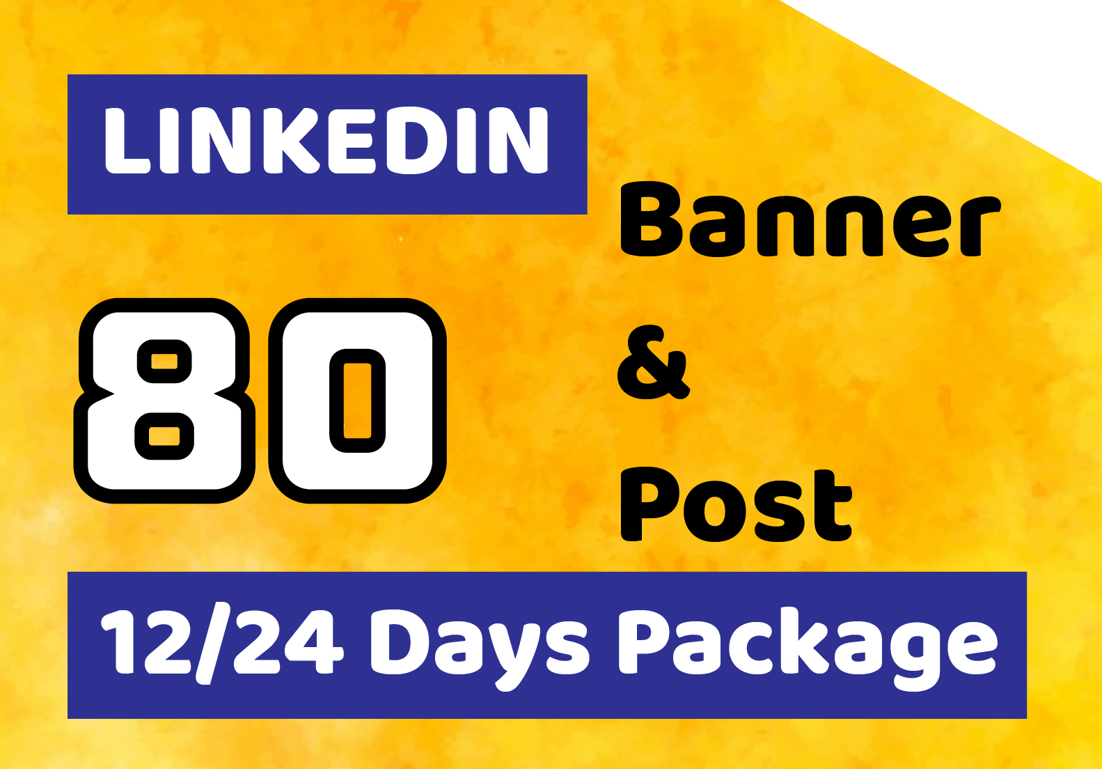 I will create 40 linkedin posts and banner design