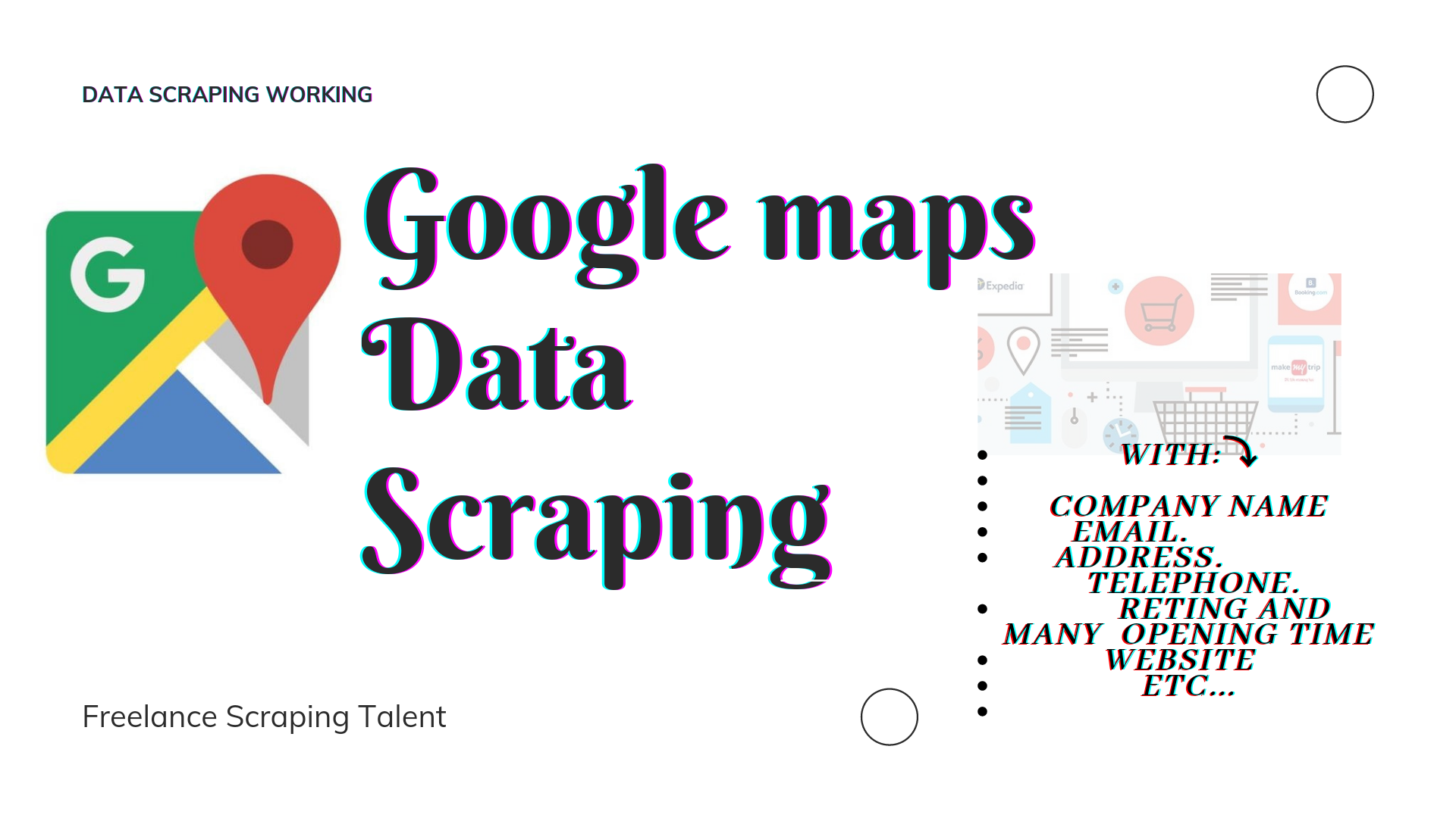 I will scrap data from Google Maps