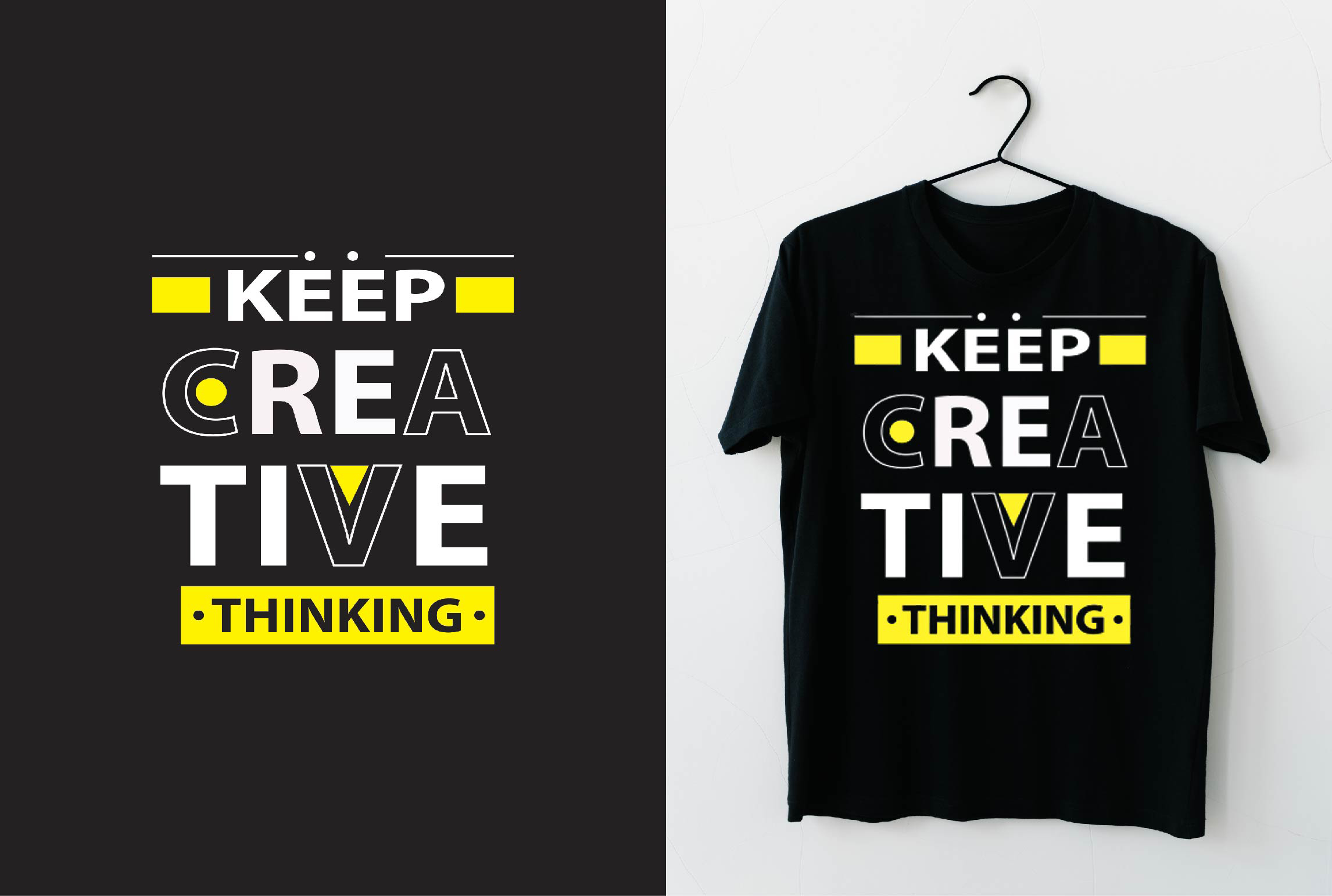 I will design typography and custom graphic tshirt