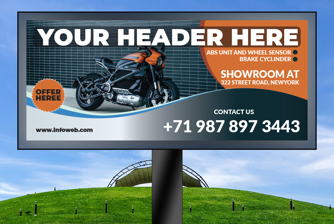I will do attractive billboard banner design