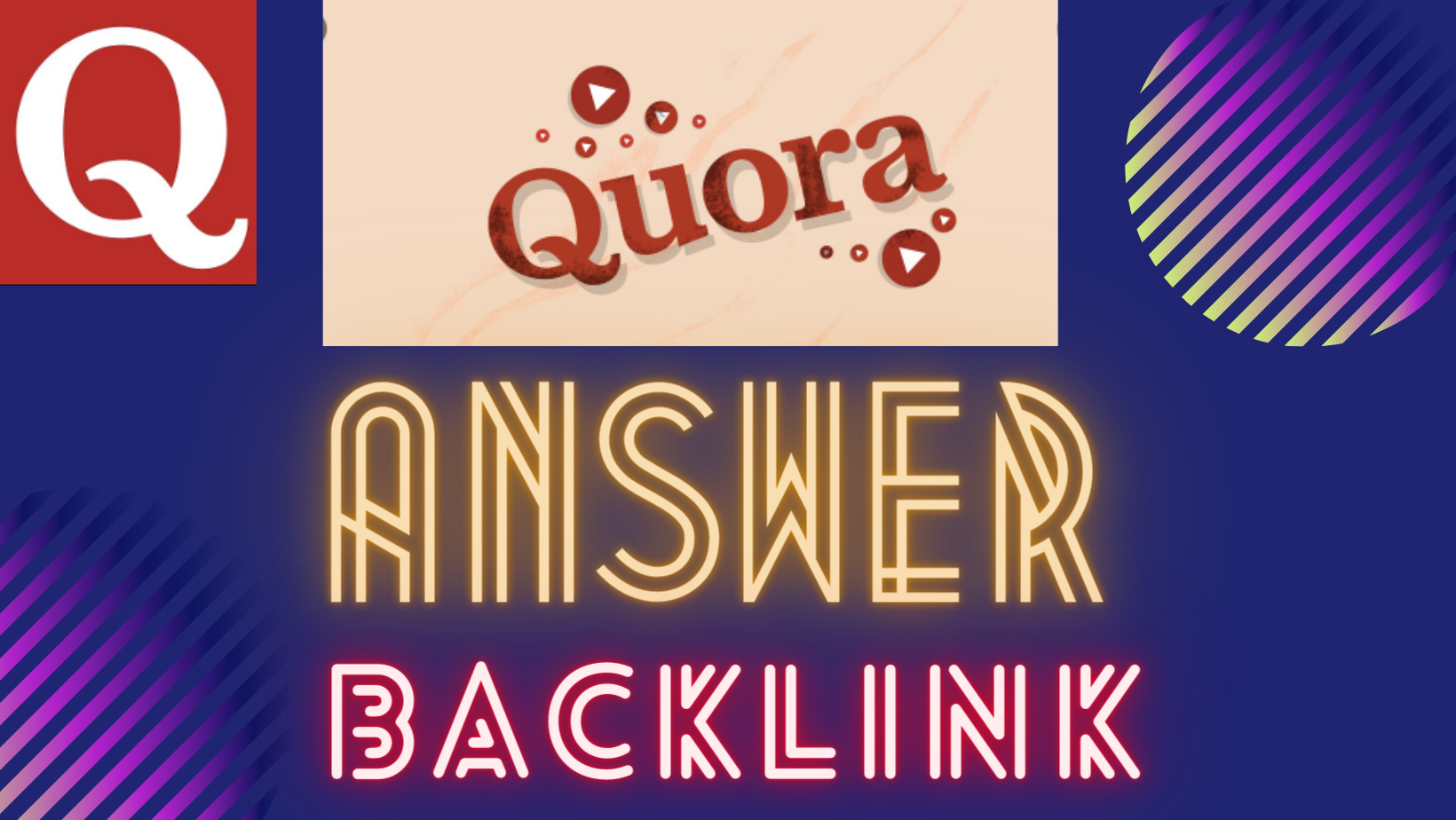 10 Quora Answers & 10 Upvotes Based on Keywords with Backlink