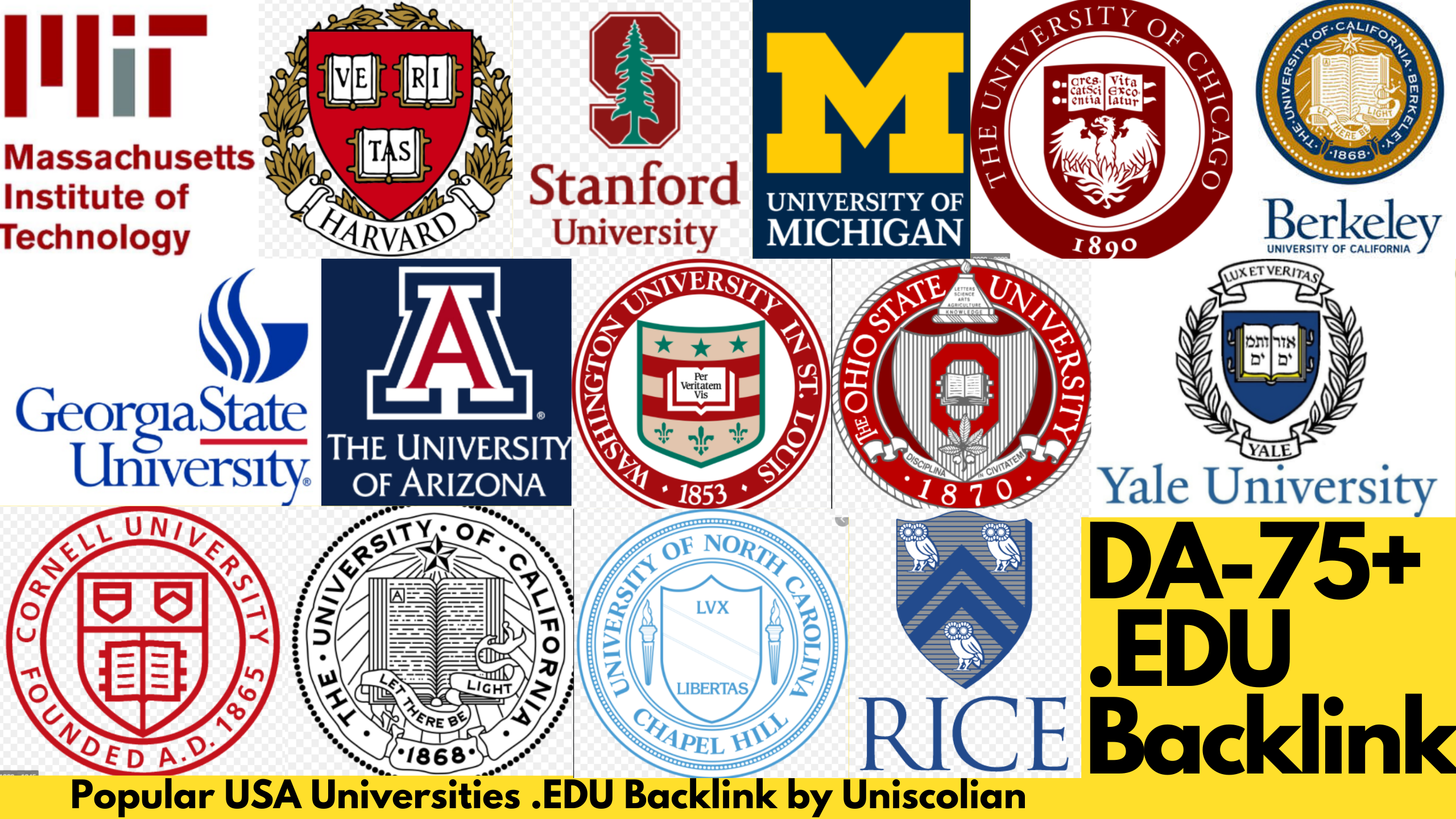 30 EDU Backlinks DA 75+ from USA Universities with Indexing Guarantied