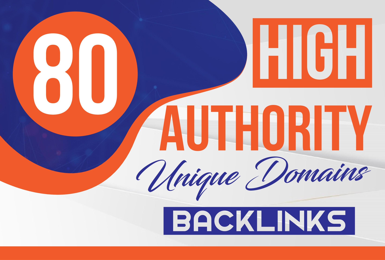 do 80 da high authority unique domains backlinks contextual