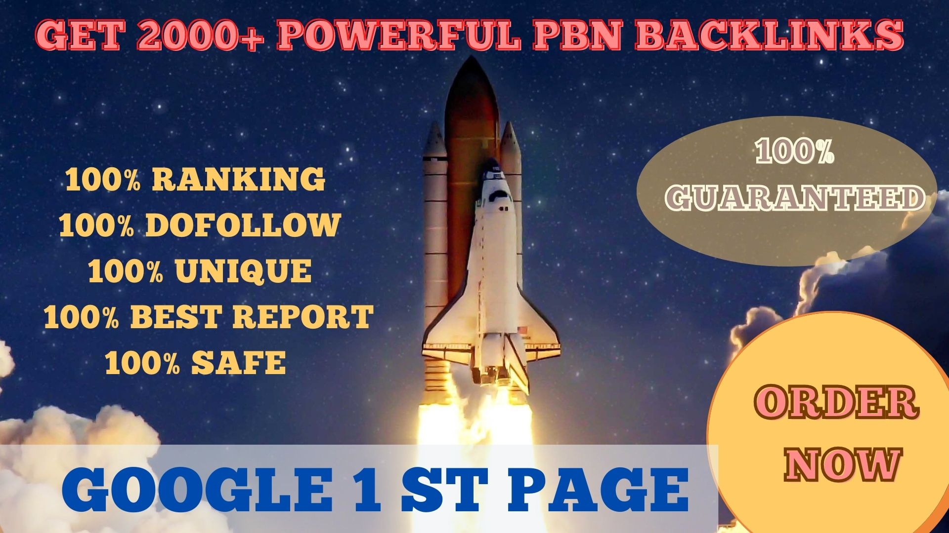 Get powerful 2000+ pbn backlinks with high DA 50/PA 35 on your homepage with unique website.