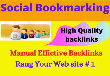 20 Social Bookmarking High authority low spam score Permanent backlinks