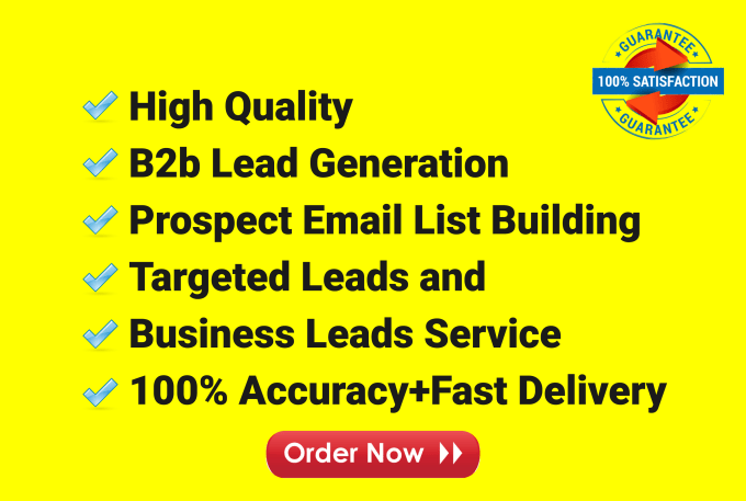 I will do b2b lead generation and targeted lead generation of your choice