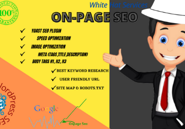 On-page SEO with premium yoast of WordPress website for ranking in google