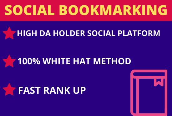 Make 20 High Authority Do-follow Social Bookmarking Backlinks Website SEO