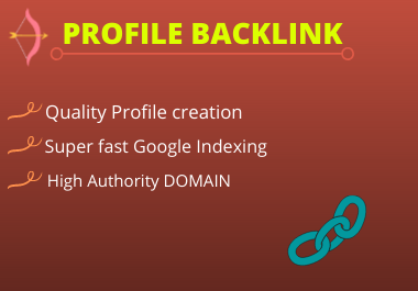 Live 25 Profile Backlinks High Authority Do follow Permanent backlinks unique link building