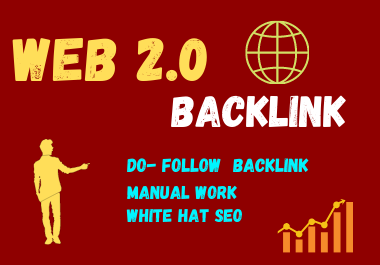 20 Web 2.0 High DA Do-follow Back links permanent backlink