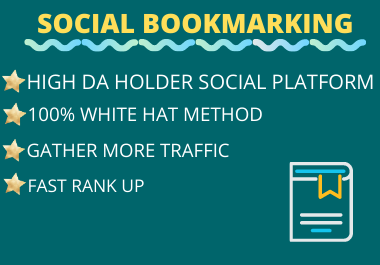 Live 20+ High Authority Social Bookmarking regular third party referencing