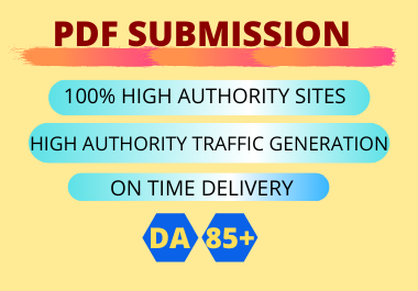 20 PDF Submission High Authority low spam score website permanent backlinks unique link building