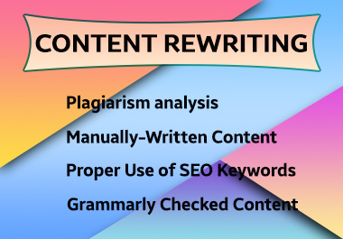I will do unique SEO article writing or rewrite