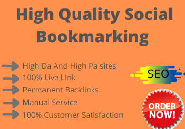 20 Social Bookmarks High DA PA and PR Social Bookmarking Backlink Services