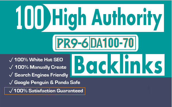 Search Top ranking Build 100 HIGH-QUALITY Backlinks PR9,  EDU/GOV,  Web2 Post,  Article Submission Boos