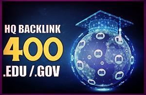 Get HQ 400. EDU high quality backlinks increase domain ranking