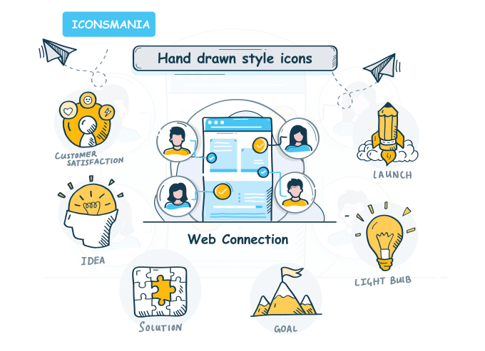 I will design hand drawn vector icons