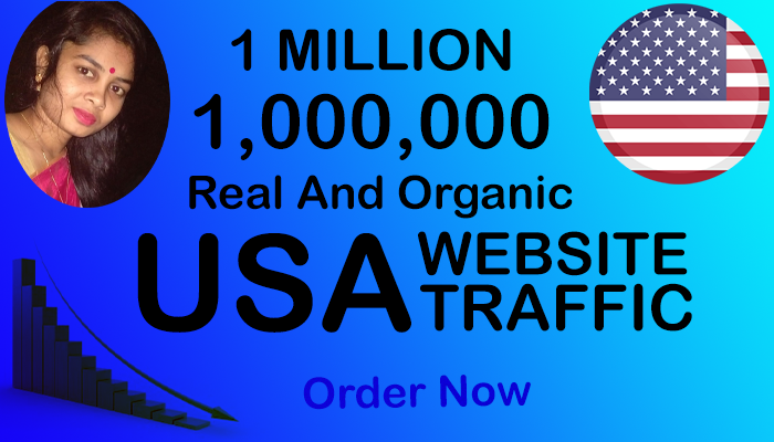Real and Organic 1 Million Keywords/Social Media USA Website Traffic within 15 Days.
