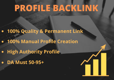 I will create 30 manual profile backlinks in high DA site for seo