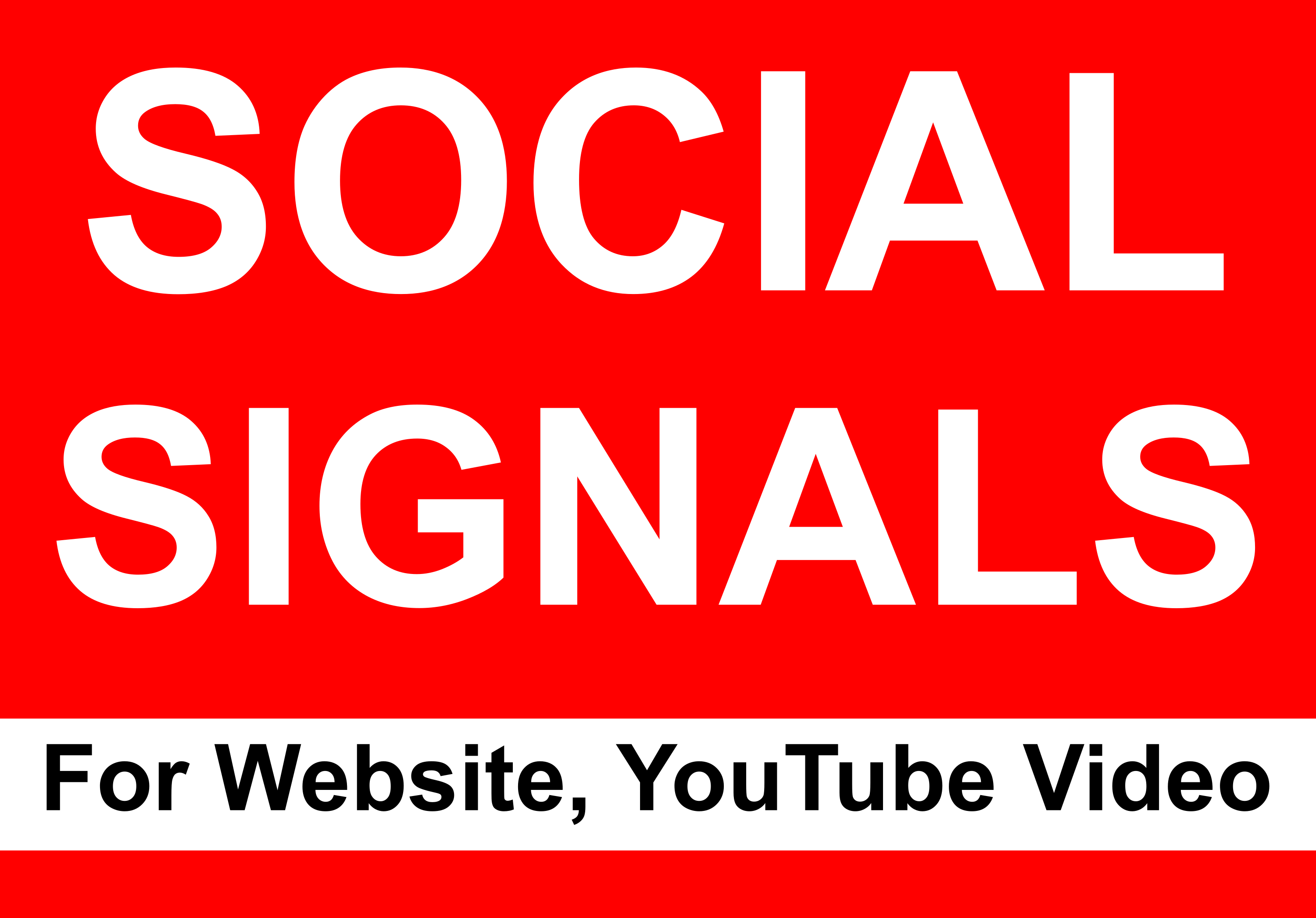 10000 social signals boost your website or Youtube video