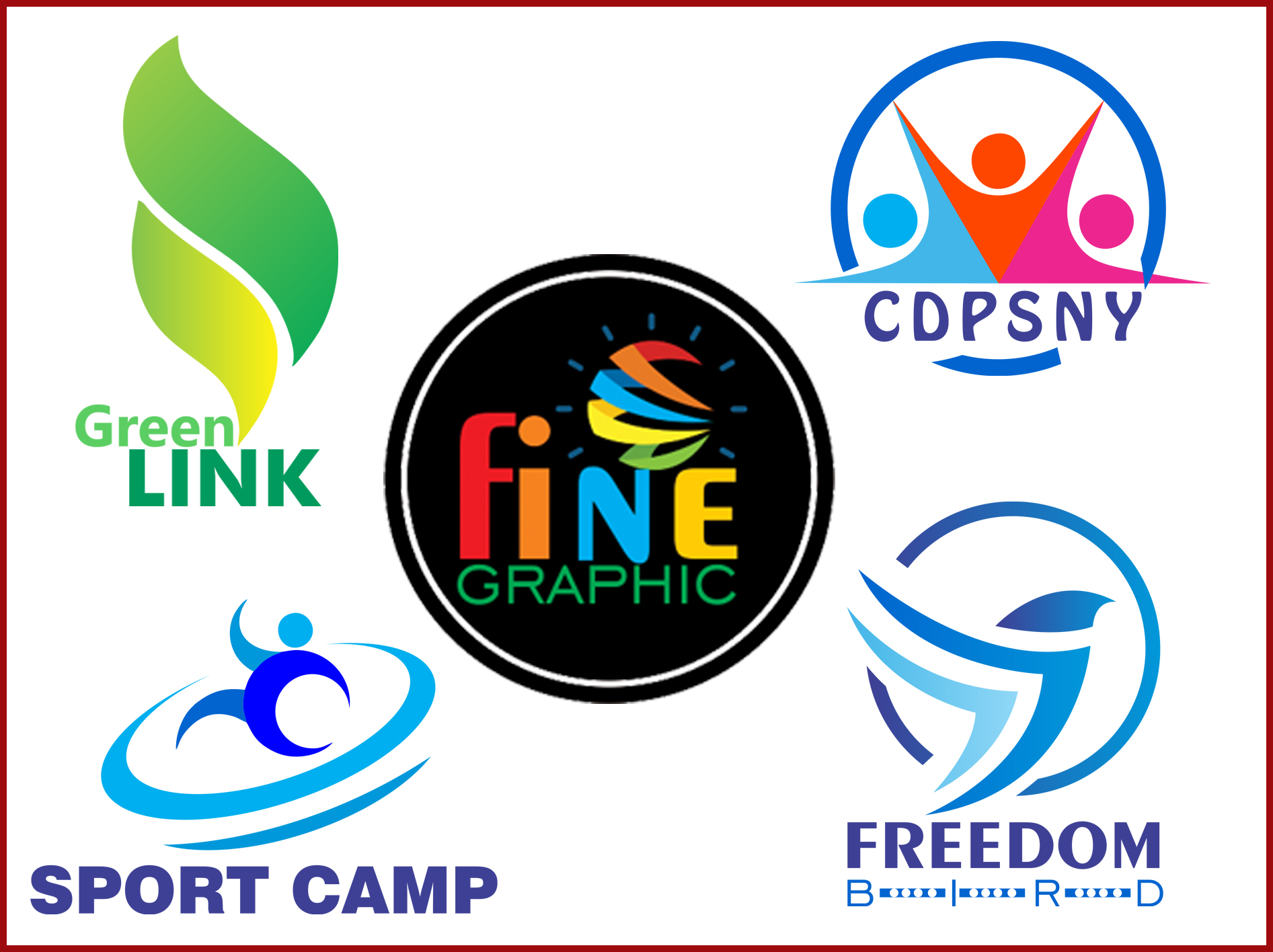 I will create fine Modern logo