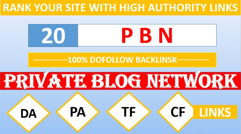 Unique and Powerful 20 High Quality PBN backlinks