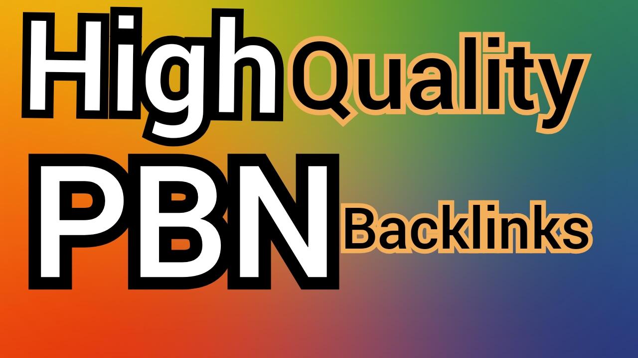 Build 15 High DA PA CF TF homepage PBN backlinks