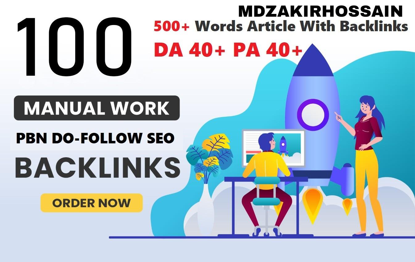 One of a kind 100 Sites DA 50+ PA 40+ PR 5+ Web 2.0 100 PBN