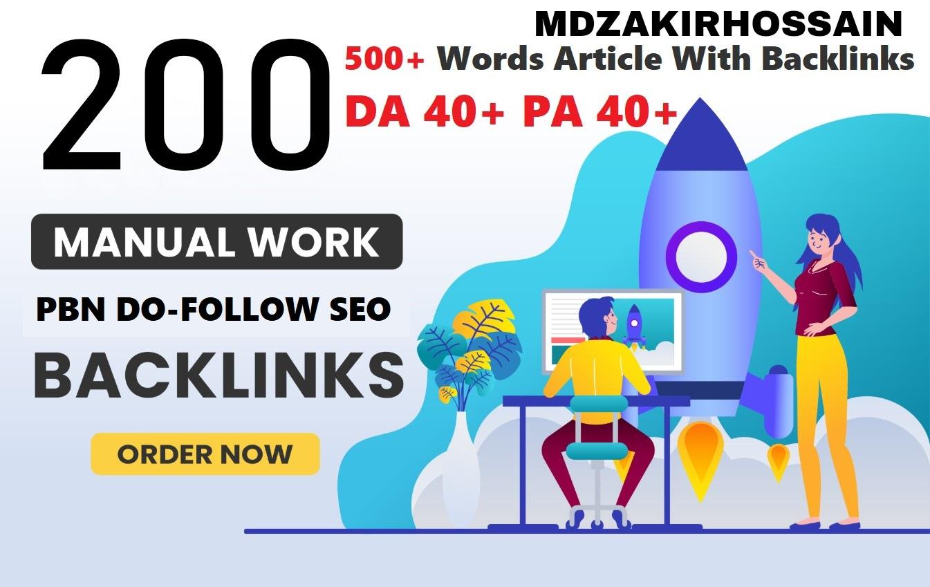 Exceptional 200 Sites DA 40+ PA 35+ PR 5+ Web 2.0 200 PBNs