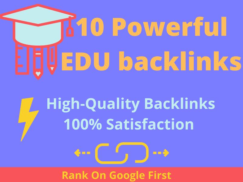 I Will Give You 10 Powerful HQ EDU Backlinks