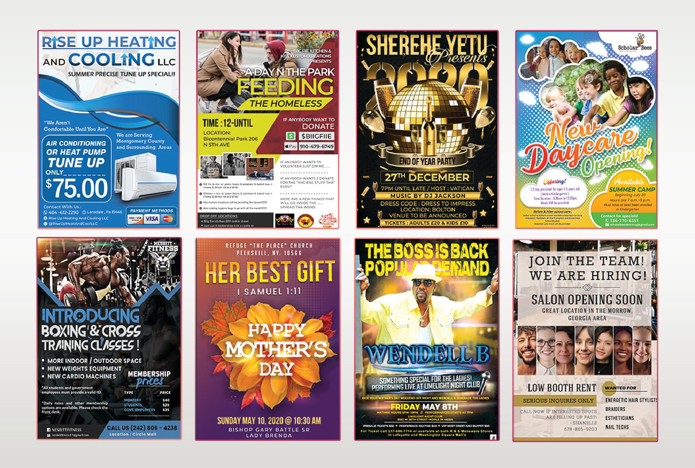 Design any kind of flyer or poster
