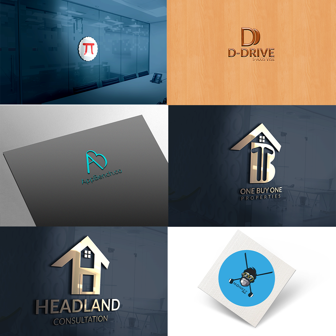 I Will Design Unique Modern Flat minimalist logo For You