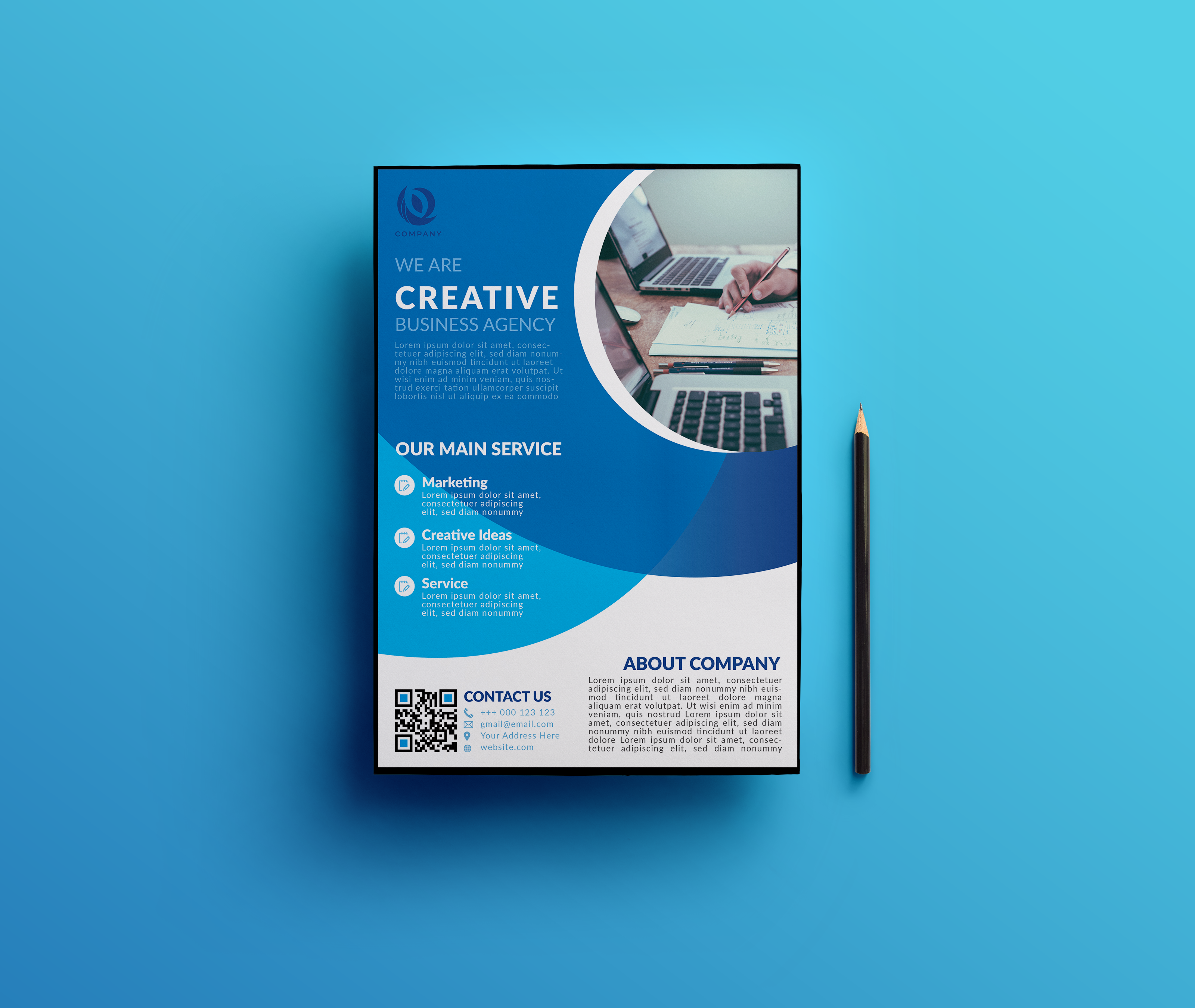 will design eye catching flyer for your business