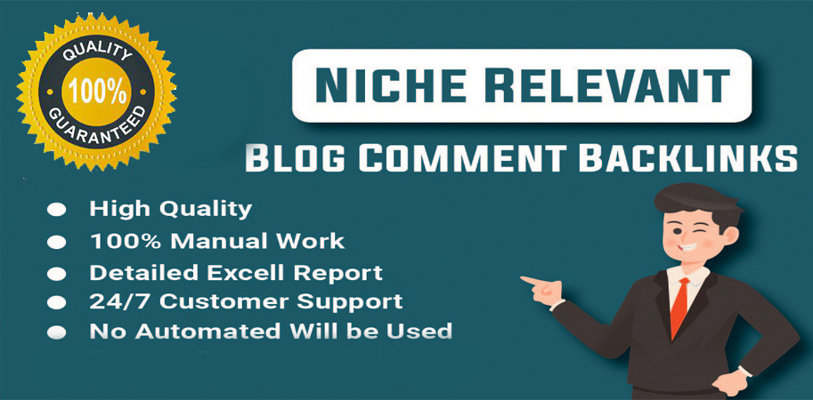 50 High Quality Niche Relevant Blog Comments Backlinks
