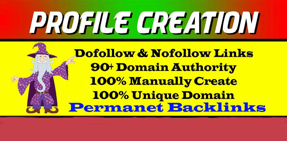 I will create 20 HQ social profile creation backlinks