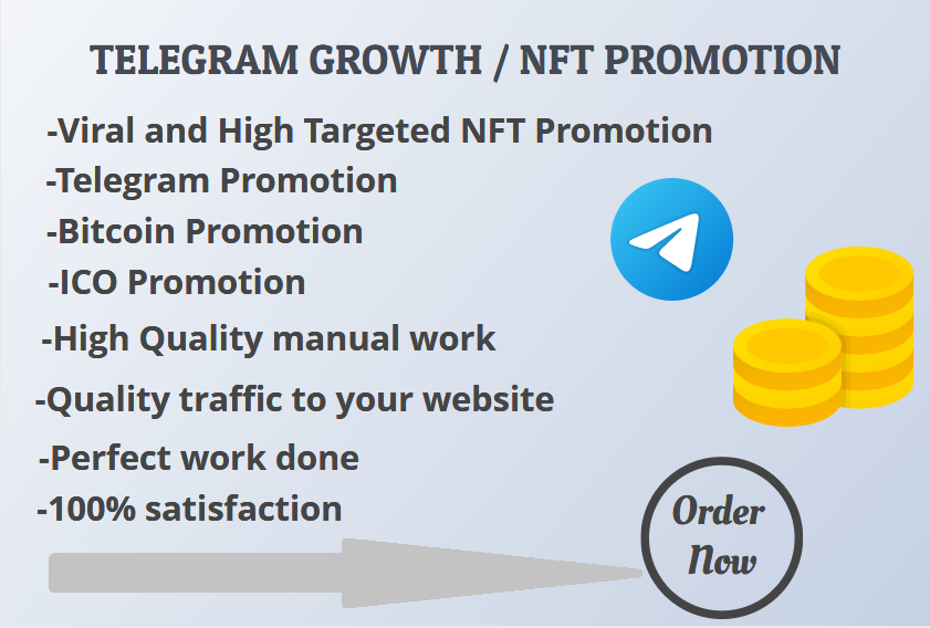 I will do Nft marketing bitcoin promotion,  cryptocurrency,  ico website,  token promotion
