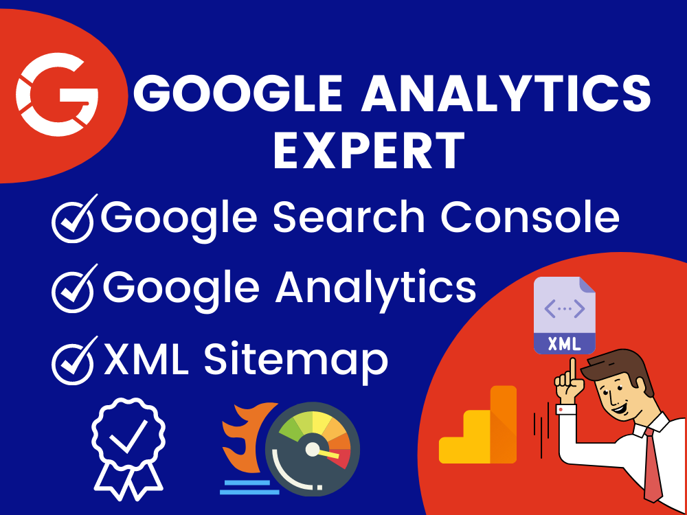 Setup Google Analytics Ga4,  Search console,  XML sitemap,  & Webmaster index