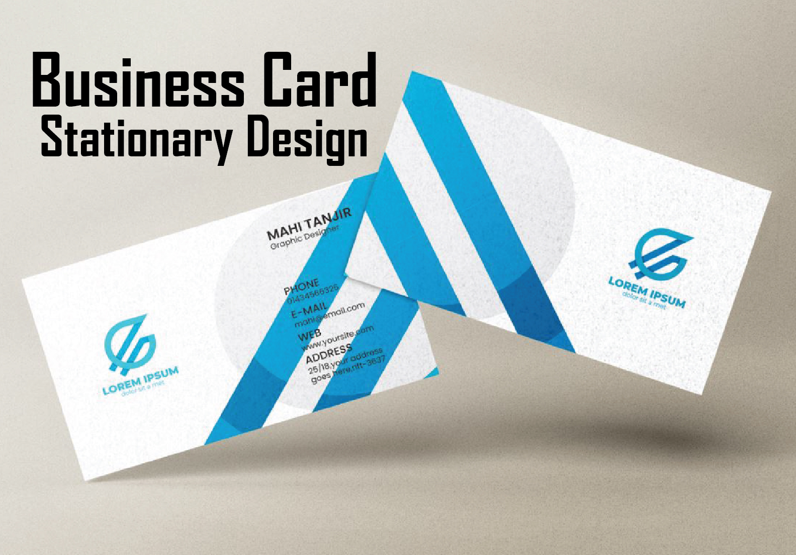 I can create beautiful business cards and stationery design