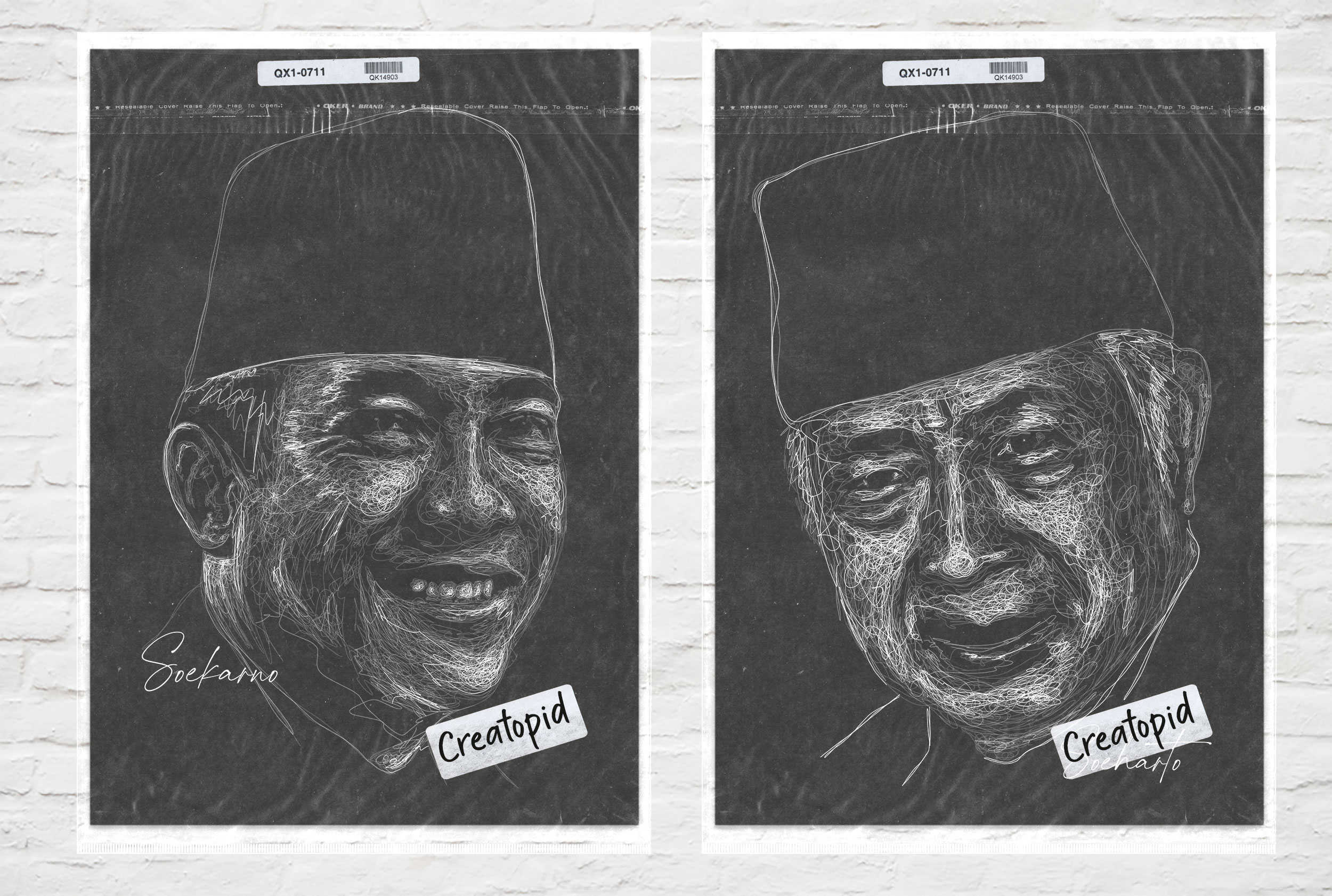 I WILL MAKE DARK SCRIBBLE ART PORTRAIT FROM YOUR PHOTO