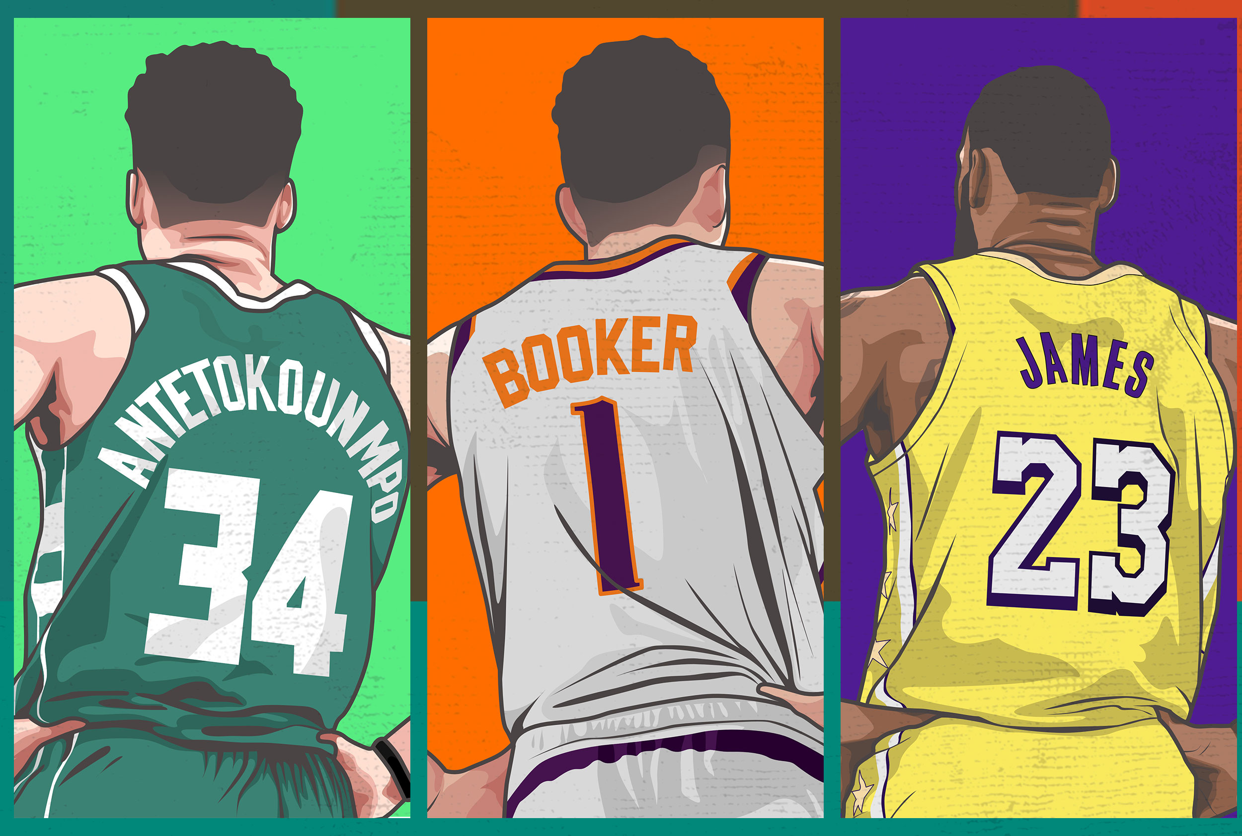 I WILL TURN YOUR PHOTO INTO ATTRACTIVE SPORTS CARTOON VECTOR ART
