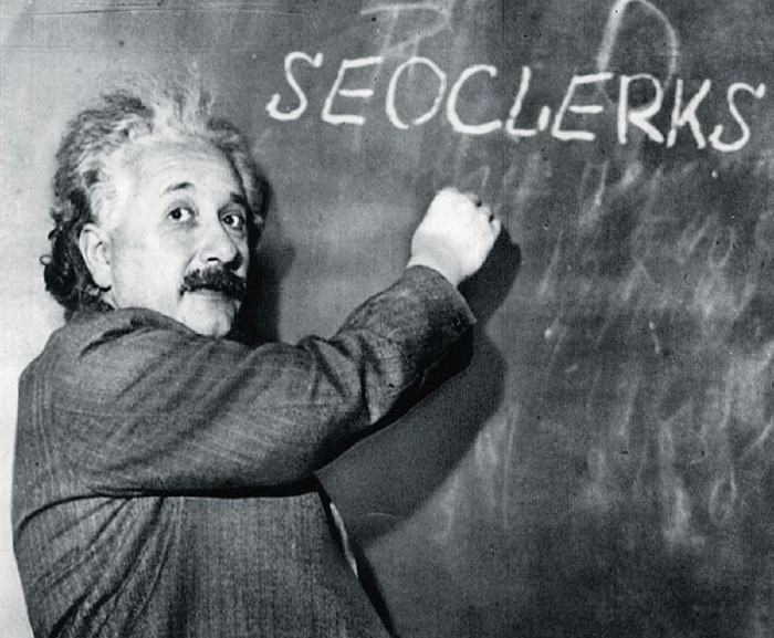 I will have your name or custom text drawn by einstein himself on the board