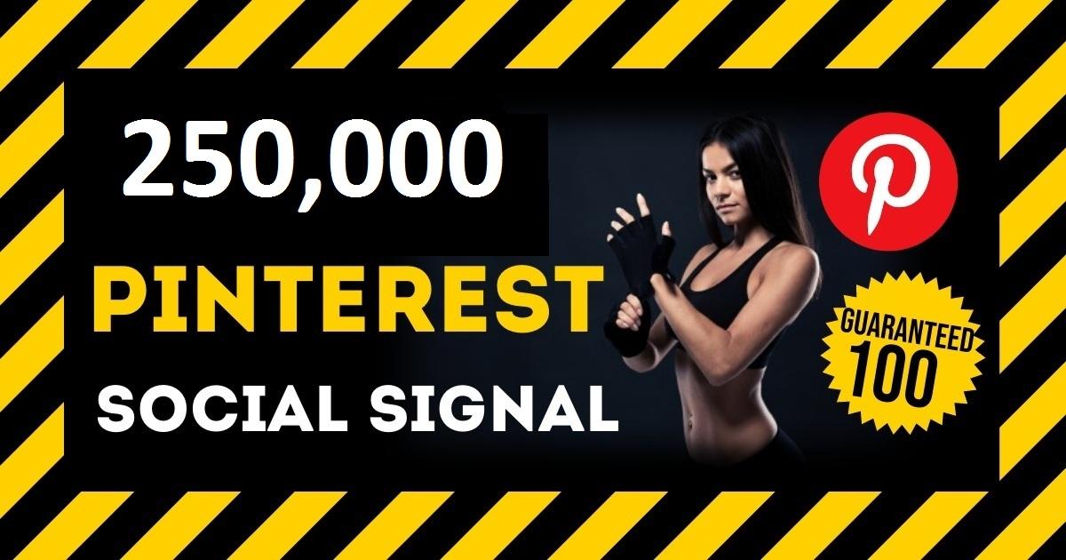 HQ Service 250,000 Pinterest Social Signals PBN Backlink Share Bookmarks Important Google Ranking