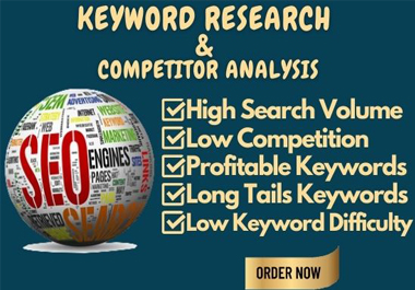 Premium SEO keyword research and competitor analysis