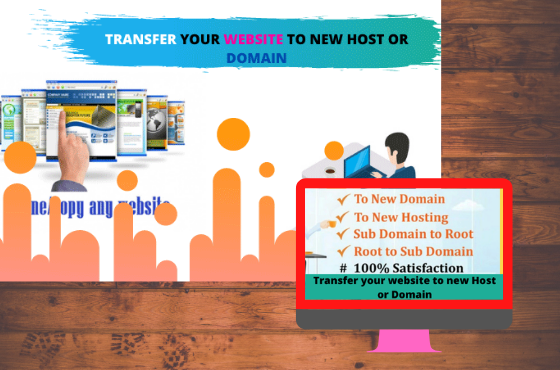 I Will move or transfer your website to new host or Domain