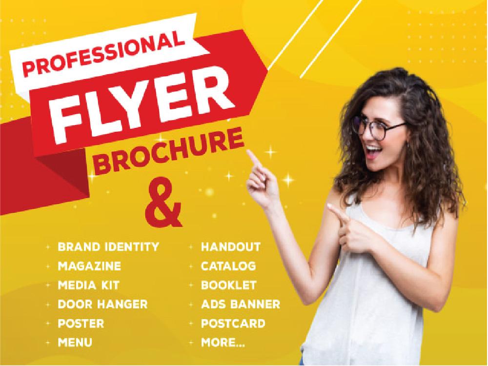 You will get A professional flyer design brochure designer