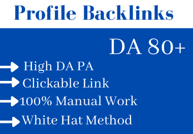 Create Manual 100 High Authority SEO Backlinks For Your Website