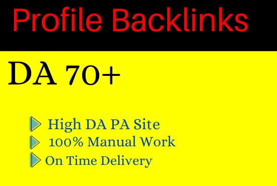 Manually Create 100 Social Profile Backlinks For Grow Your website