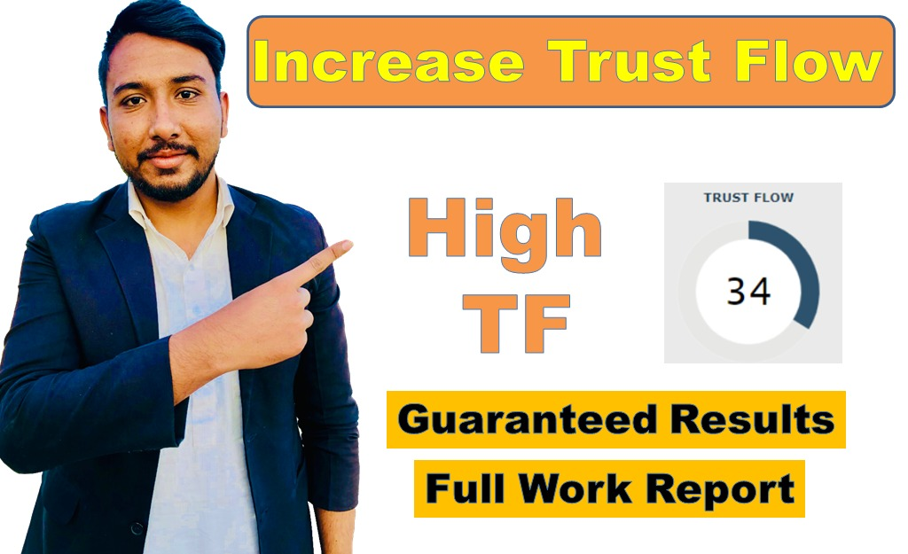 I will increase majestic trust flow tf up to 30 plus