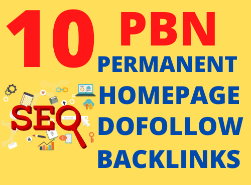 I will build 10 permanent PBN homepage dofollow quality backlinks aged domains