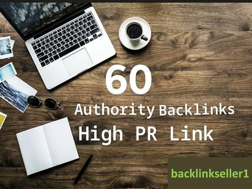 I will do 60 authority backlinks dofollow link building of page SEO